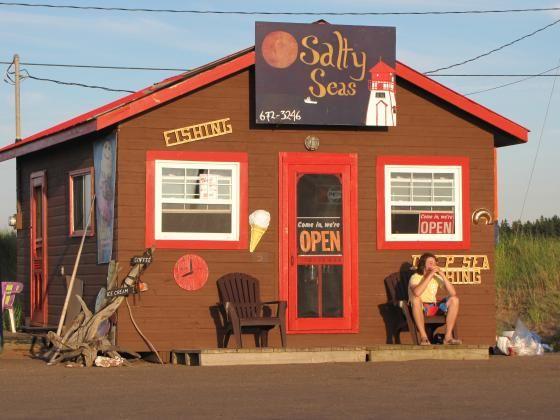 Great stop for ice cream! Salty Seas, Covehead, Prince Edward Island