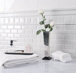 Subway Tiles in White 300x287 Black and White Subway Tile Bathroom with Unlimited Possibilities