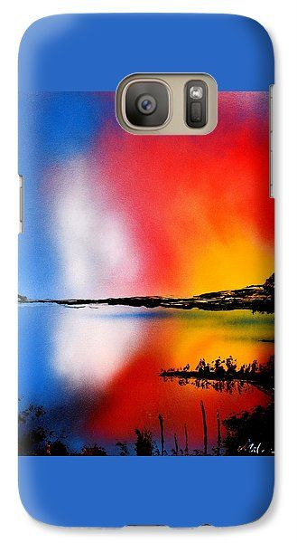 Dawn Twilight Galaxy S7 Case Printed with Fine Art spray painting image Dawn Twilight by Nandor Molnar (When you visit the Shop, change the orientation, background color and image size as you wish)