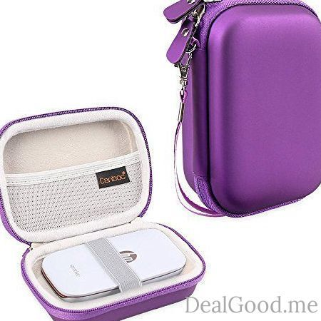 Canboc Shockproof Carrying Case Storage Travel Bag for HP Sprocket Portable Photo Printer / Polaroid ZIP Mobile Printer Protective Pouch BoxPurple