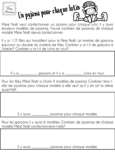 Mini-résolutions de problèmes pour les élèves du 2e cycle. Thème de Noël