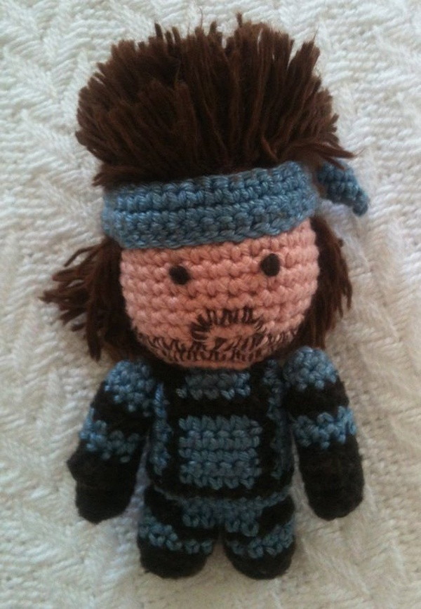 Solid Snake Amigurumi : Metal Gear Solid Snake amigurumi crochet toy plushie ...