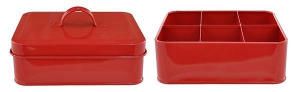 Lidded Tea Box - Red