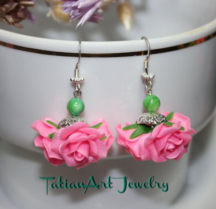 Orecchini ''Mazzo di Rose'' color rosa. di TatianArtJewelry