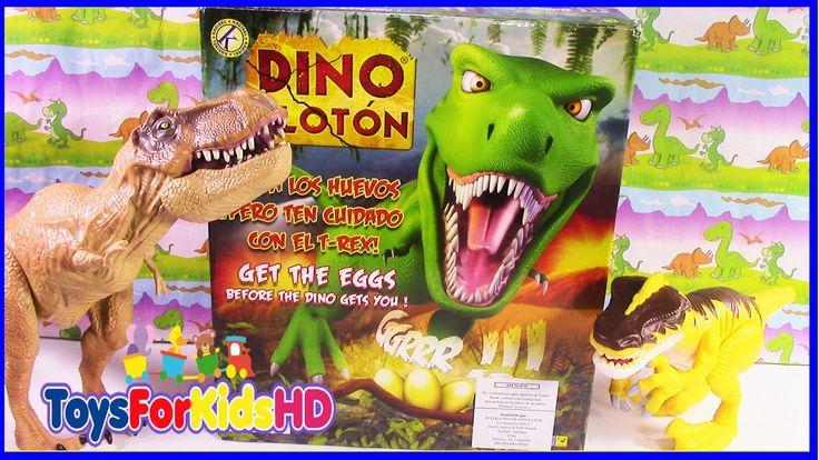 Los Dinosaurios para niños Dino Glotón - Videos de Dinosaurios Juguetes de Dinosaurios ToysForKidsHD
