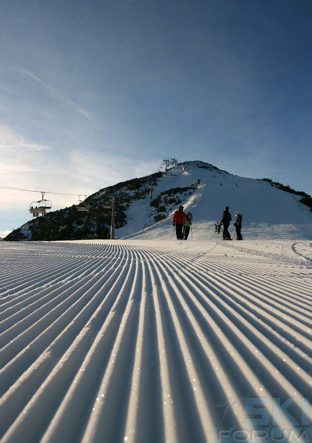 Perfect ski slopes, Andalo - Paganella (Italy).