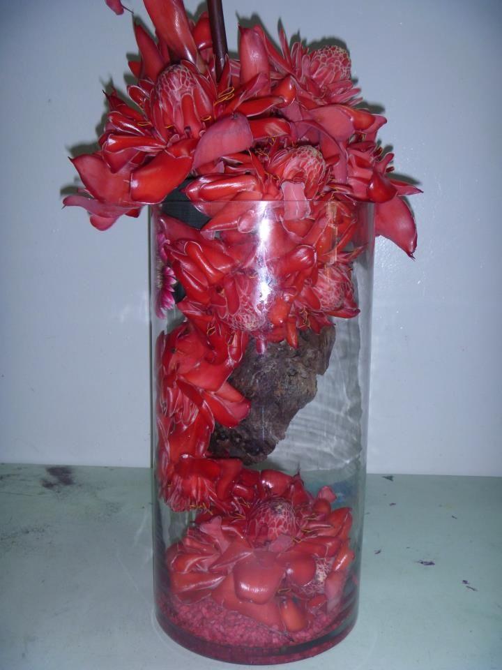 Vase Arrangement Brazilian Lilies Gerbera2