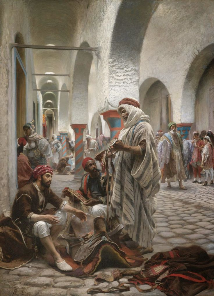 Anton Robert Leinweber - The Souk el Koumach, Tunis [1889]