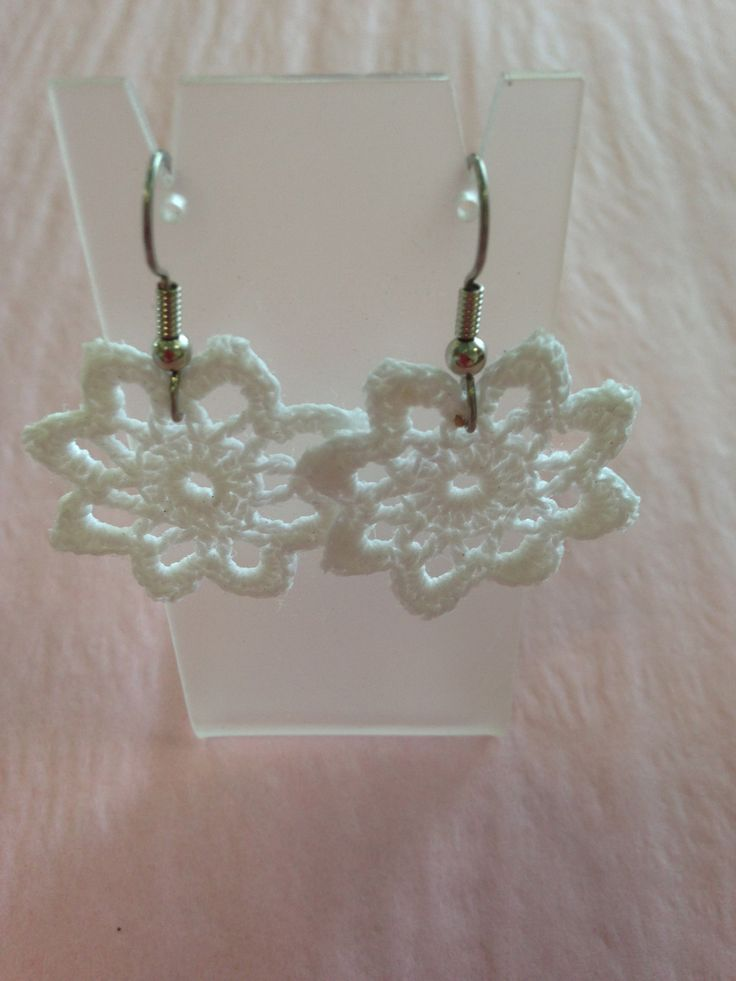 Vintage lace made into earings