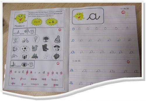 associer lecture et écriture avec les alphas début période 3