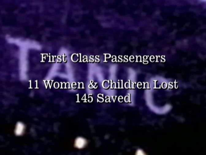 first class passengers 11 woman and children lost, 145 saved.