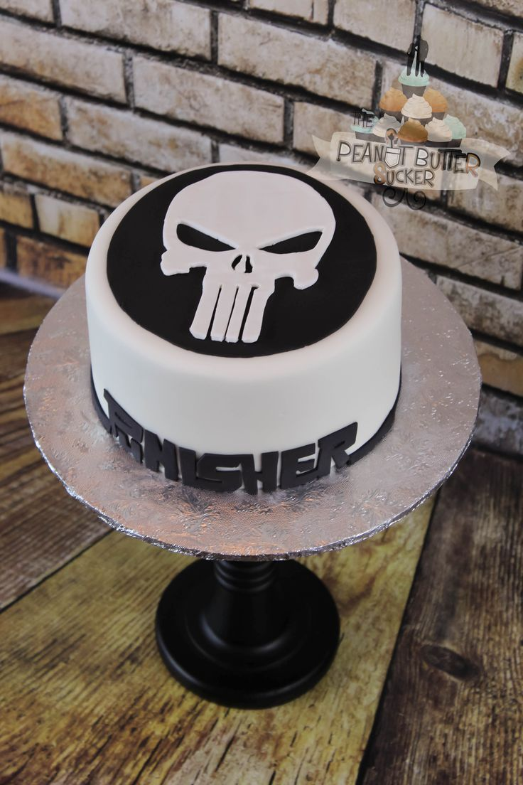 Punisher Cake Sis Bday Ideas