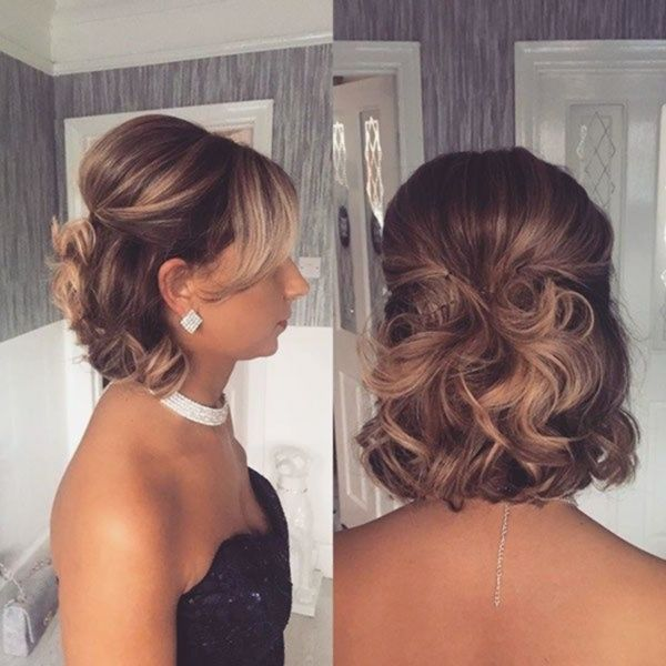Incredible Marriage Ceremony Hairstyles For Brief Hair 2019 In 2020 Wavy Bob Hairstyles Hair Styles Short Wedding Hair