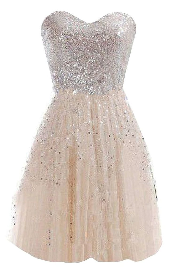 Top 25 best sparkly dresses ideas on pinterest white sparkly glamorous sweetheart knee length light champagne homecoming dress with sequined ombrellifo Choice Image