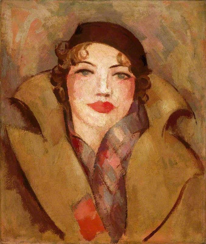 'The Ochre Coat' (Roberta Paflin) // by John Duncan Fergusson
