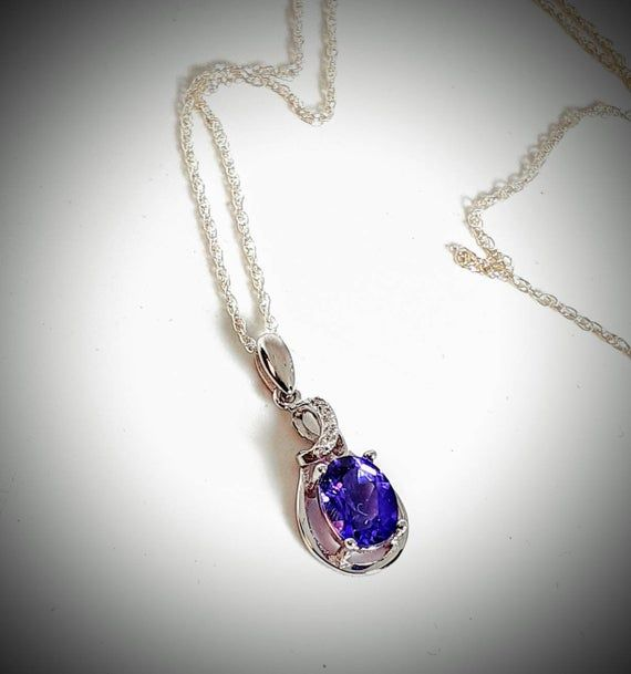 Amethyst Solid 925 Sterling Silver Pendant Necklace