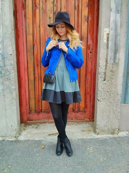Get this look: http://lb.nu/look/5422862  More looks by Timea C: http://lb.nu/timbo  Items in this look:  New Yorker Jacket, Asos Dress, Primark Boots, Oasap Clutch   #dress #asos #clutch #sweat