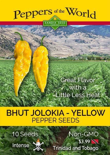 Bhut Jolokia Yellow Pepper Seeds – hot pepper seeds: https://www.sandiaseed.com/collections/hottest-pepper-seeds/products/bhut-jolokia-yelleow