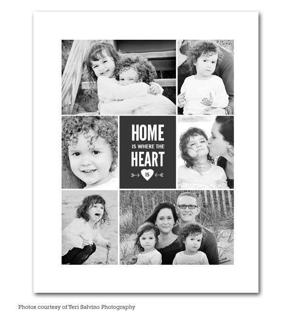 Home Heart Collage 16x20