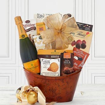 Veuve Clicquot Champagne Basket.  See more at www.pro-gift-baskets.com!