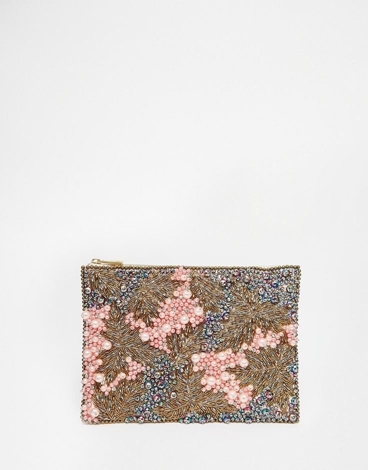 ASOS Co-ord Pearl Embellished Clutch Bag