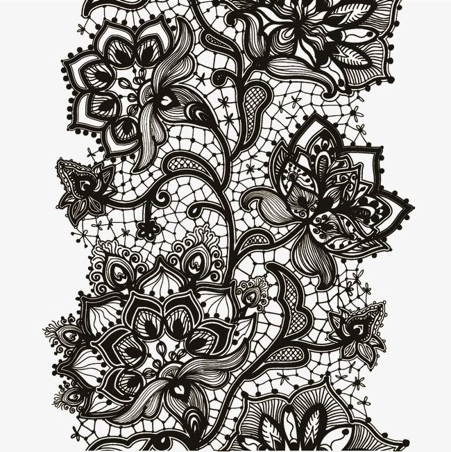 Black Lace Vector Creative Black Lace Png And Vector With