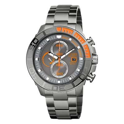 Men 39 s citizen eco drive super titanium watch with grey dial model ca0520 53h for craig for Watches zales