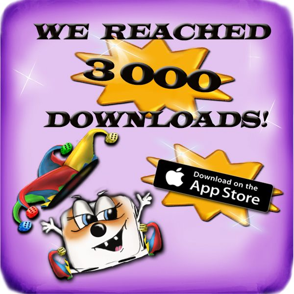 3000 downloads! Not bad? #yatzy #yathzee #time #fun #game #funny #yatzysaga #score #humor #happy #appstore #app #appreview #cool #cute