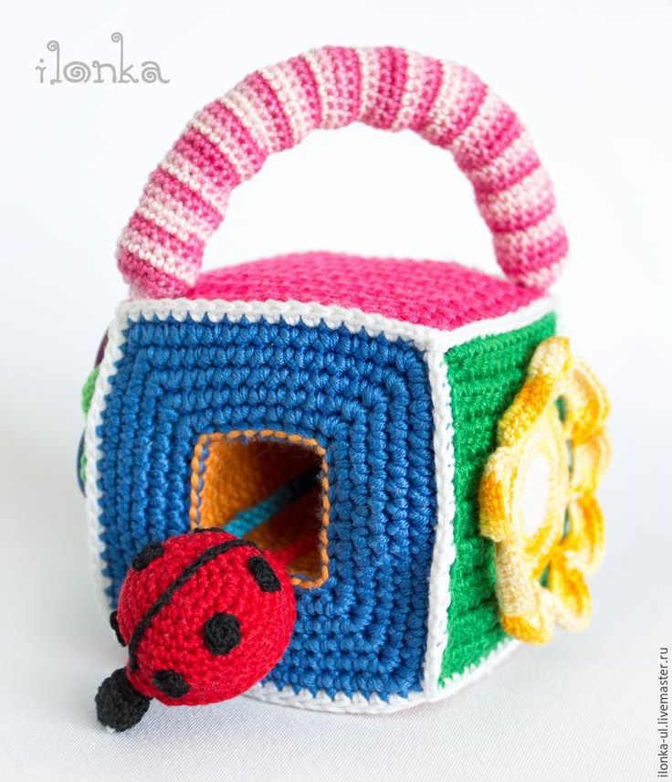 Knit developing dice loophole for balls, ladybug and flower mirror