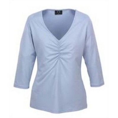 Silky 3/4 Sleeve Ladies Top Min 25 - Clothing - Promotional T-Shirts - Her Tee Shirts - BC-T34031 - Best Value Promotional items including Promotional Merchandise, Printed T shirts, Promotional Mugs, Promotional Clothing and Corporate Gifts from PROMOSXCHAGE - Melbourne, Sydney, Brisbane - Call 1800 PROMOS (776 667)