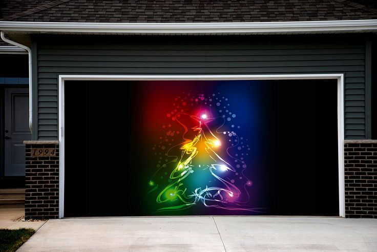 christmas garage door covers 3d banners outside house