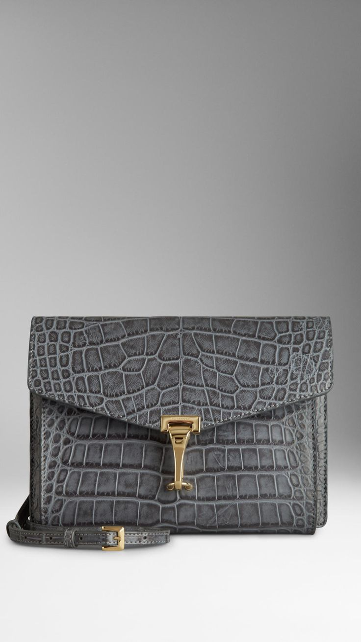 Small Antiqued Alligator Crossbody Bag | Burberry