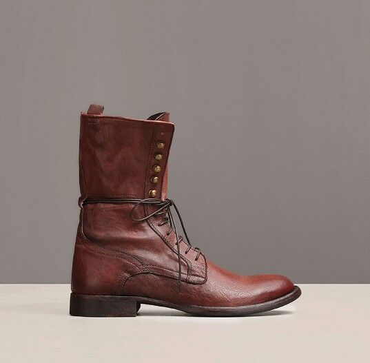 STRONG STATURE LEATHER BOOT. Kenneth Cole Black Label. Color: BROWN #:  821099914296