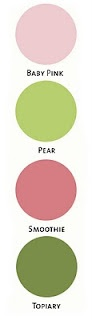 12/13/10 -- Color Me Monday: A Cozy Winter Party -- Baby Pink, Pear, Smoothie & Topiary -- CTMH Color Combos