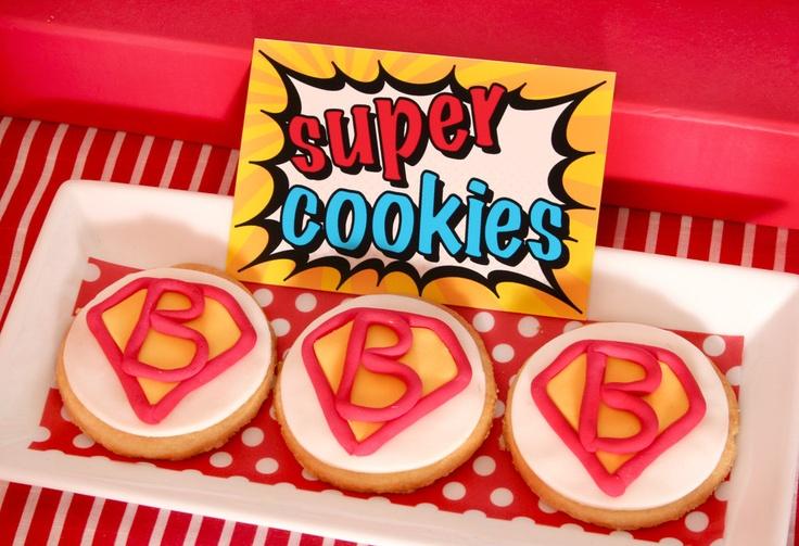 PRINTABLE DIY Blank Fancy Labels DIY - Superhero Birthday Party - PS825f. $6.50, via Etsy.