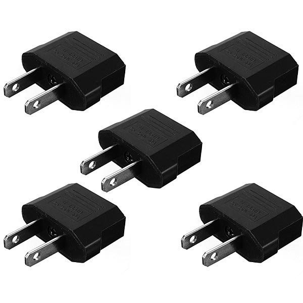 5XEU To US Travel Charger Adapter Plug Outlet Converter…