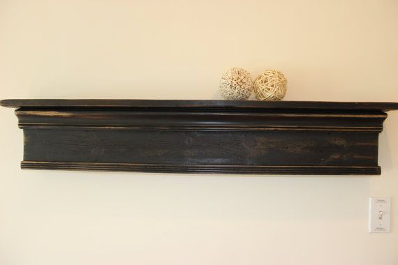 French Country Mantel Primitive Mantel Shelf by Junkin2Jewels