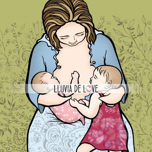 Lactancia en tandem en colgante personalizado. Encargos desde la web http://www.lluviadelove.com/ Breastfeeding. Custom jewelry. Orders from the web.