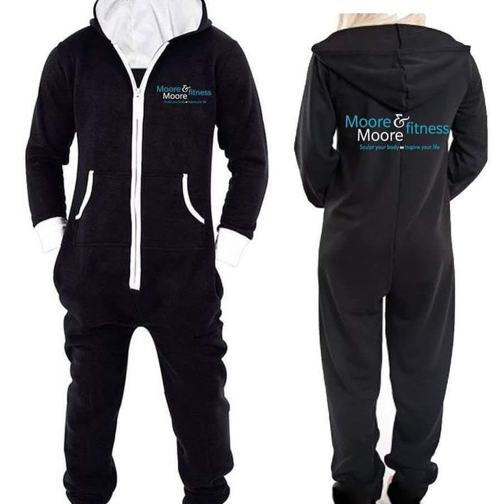 Fitted Black Onesie With White Zip up