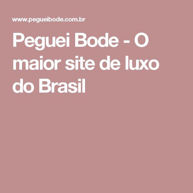 Peguei Bode - O maior site de luxo do Brasil