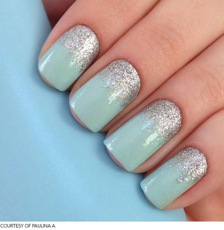 12 best pretty short nail gel designs images on pinterest light blue and sparkling short nails gel design prinsesfo Gallery