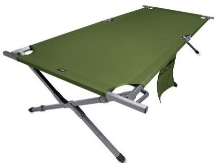 camping cot - gear fits underneath cot