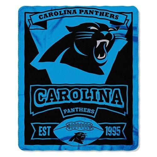 NFL Panthers Theme Blanket 50 x 60 Blue Black Football Themed Sofa Throw Collegiate Sports Patterned Team Logo Fan Merchandise Athletic Team Spirit Fan Soft Snuggly Polyester