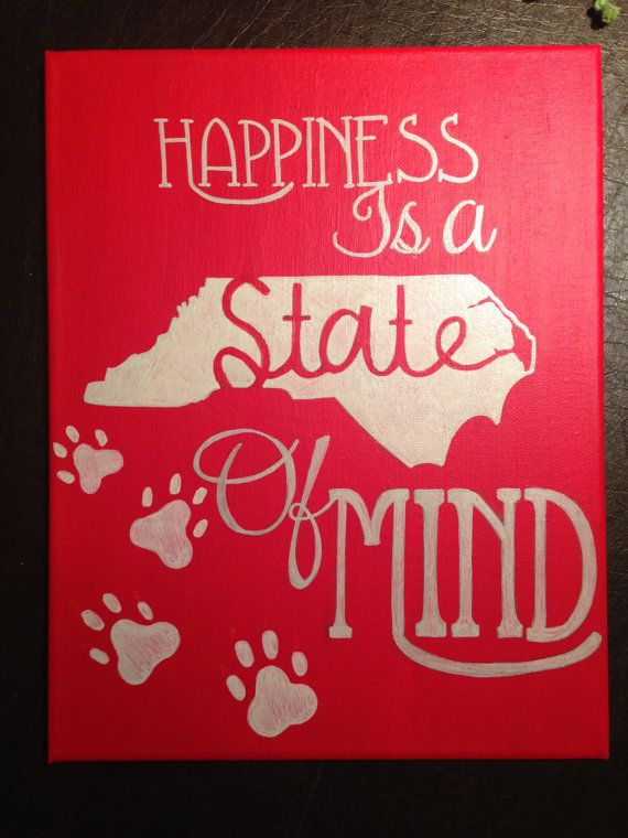 NC State of Mind Canvas by MissMeraki on Etsy