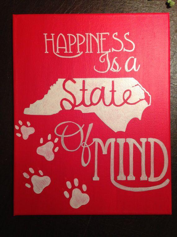 NC State of Mind Canvas by MissMeraki on Etsy