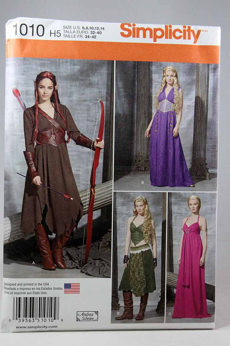 14 besten Costume Sewing Patterns Bilder auf Pinterest ...