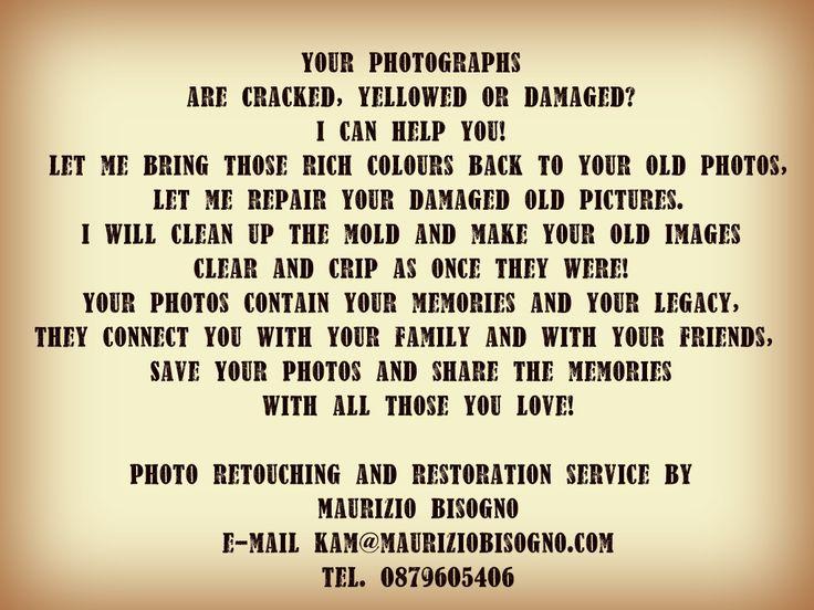 Photo restoration and retouching service