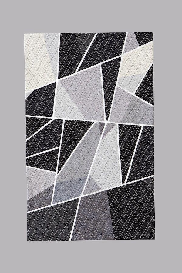 Figure/Ground Study #3 - SandraPalmerCiolino.com | Fiber Artist | Contemporary Quilting | Cincinnati, Ohio