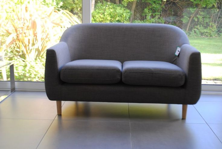 New MADE.COM Tubby 2 Seater Sofa, Pewter Grey