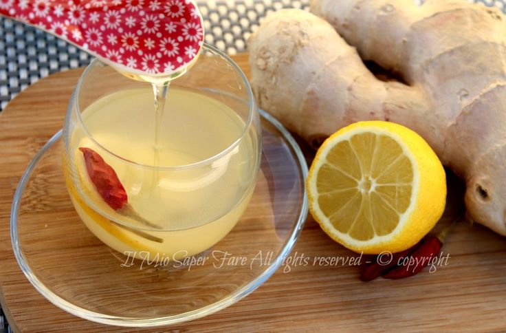 Tisana per accelerare il metabolismo zenzero e limone